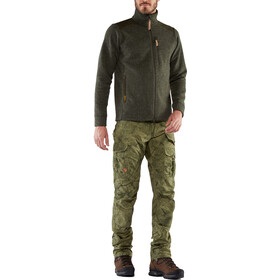 Fjällräven Barents Pro Pantalones Cazador Hombre, green camo-deep forest